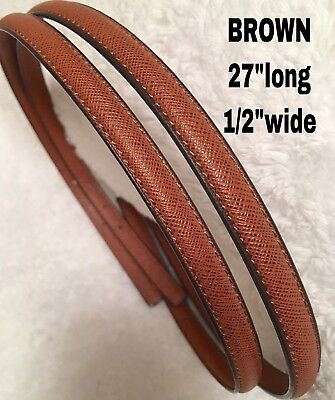 "Straps Replacement BROWN    1/2""wide(thin) Brandnew"