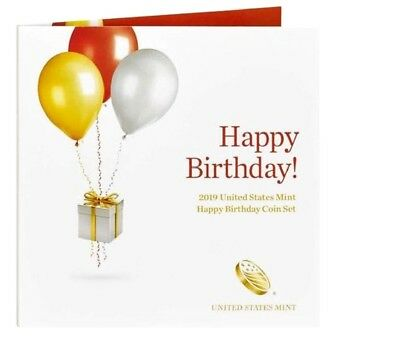 2019 S US Mint Happy Birthday Proof 5 Coin Set (19RE) with Gift Card Folder