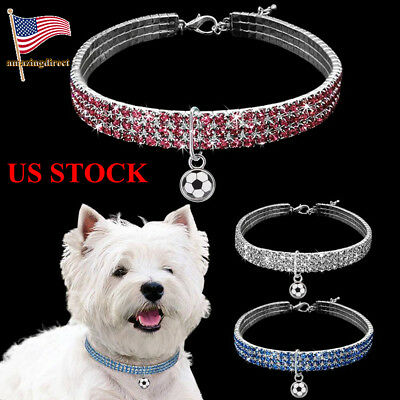 Pet Bling Rhinestone Necklace Dogs Pet Supplies Diamante Collar Cats Accessories