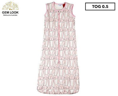 Gem Look 0.5 Tog Sleeping Bag - Pink Bunny