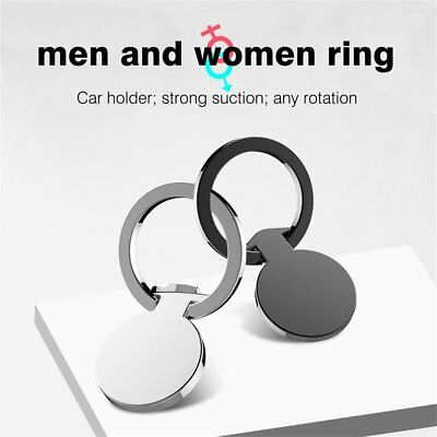 Men Type 360 Degree Rotation Phone Stand Holder Zinc Alloy Finger Ring Stand YK