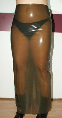 Latex Rubber Latex Damen Rock lang