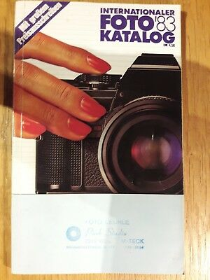 Internationaler Photo Katalog, 1983,  Deutscher Photokalog mit Preisliste