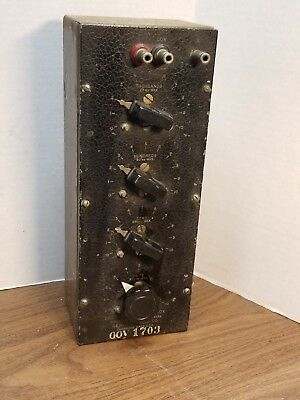 General Radio Decade Resistance Box Type 602-J - Untested Estate Find