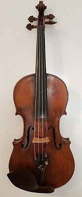 Violin Labelled Joannes Gagliano Nepos Januari, Fecit Neapoli 1806? W/ C19th Bow