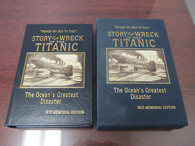 EASTON PRESS Leather - STORY OF THE WRECK OF THE TITANIC - EVERETT W/ Slipcase