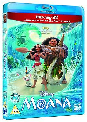 Moana (3D + 2D Blu-ray, 2 Discs, Region Free) *BRAND NEW/SEALED*