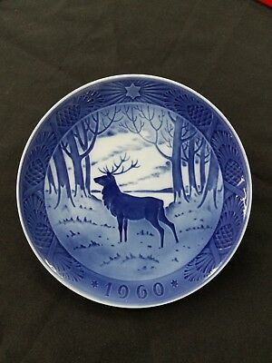 1960 Royal Copenhagen Christmas Plate ?The Stag?