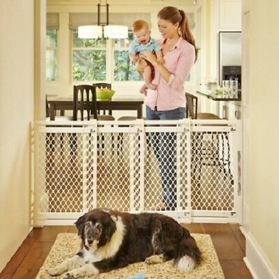 Baby Safety Gate Infant Pet Dog Home Walk Through Extra Wide Door Fence Stair