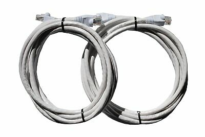 Cat6 Ethernet Patch Cable 100% Bare Copper - 10 ft (4.6 Meters) - White (2 Pack)