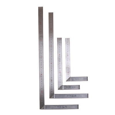 Stainless Steel L-Square Angle Ruler Woodworking Measuring Tool 25/30/50/60cm NI