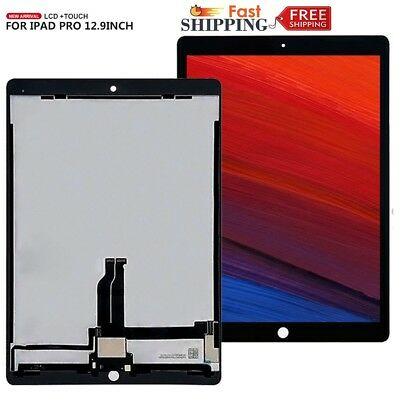 """OEM For iPad Pro 12.9"""" Replacement LCD Screen Digitizer Soldered Parts Black uk"""