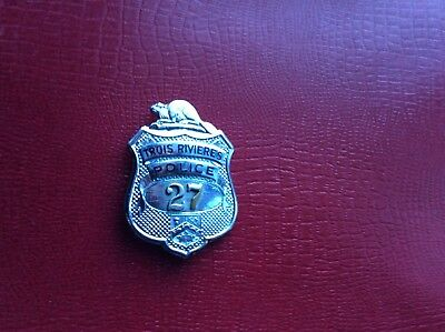 1934 Defunct Police Badge Trois Rivieres Three Rivers Quebec William Scully