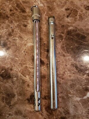 Genuine Vintage Tag USA Pencil Thermometer with Holder and Pocket Clip **READ**