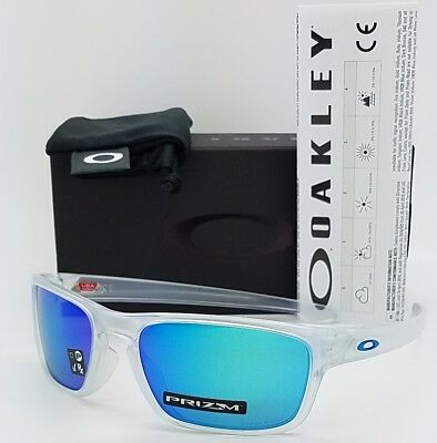 NEW Oakley Sliver Stealth sunglasses Clear Prizm Sapphire AUTHENTIC 9408-04  blue 5ba5edd604