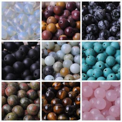 Wholesale 4/6/8/10/12/14mm Natural Stone Gemstone Round Loose Spacer Beads