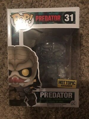 Predator - Hot Topic Exclusive Clear Funko Pop! Movies Vinyl Figure #31