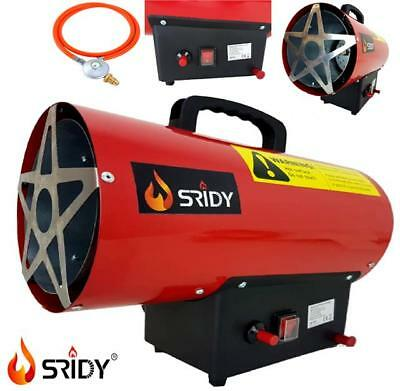 New 10KW Portable Propane LPG Gas Heater Industrial Workshop Space Fire Electric