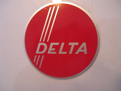 """3.37"""" DELTA 3 STRIPE DECAL- for vintage Delta machinery - badge, nameplate, tag"""