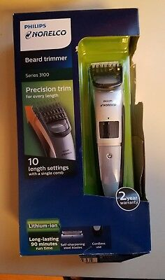 Philips Norelco Beard trimmer Series 3100,10 built-in length settings, QT4008/