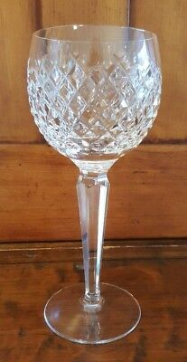 "VINTAGE Waterford Crystal Alana 7 1/2"" Wine Hock SIGNED Slight Flaw 2 Available"