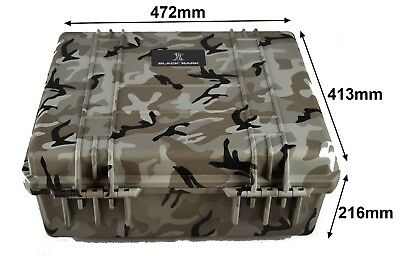 Camoflage tough case with pluck foam dustproof waterproof BB-2730