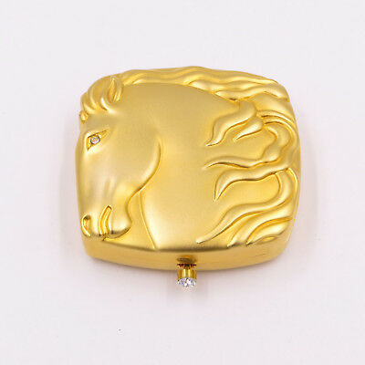 ESTEE LAUDER HORSE MUSTANG POWDER COMPACT MINT SOLID LUCIDITY New