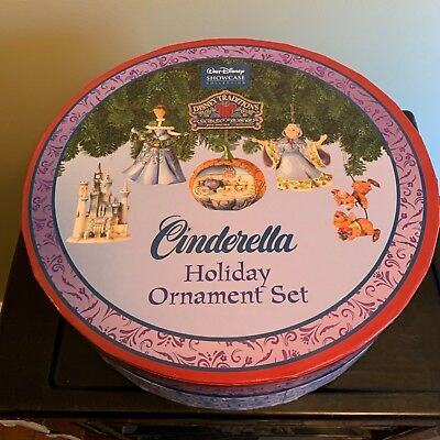 Disney Traditions Cinderella Holiday Ornament Set Mint in Box Shore and Enesco!