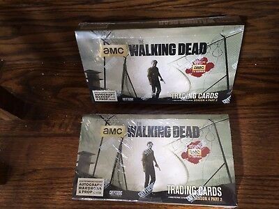 TWO Cryptozoic Walking Dead Season 4 Part 2 SEALED Trading Card HOBBY Boxes