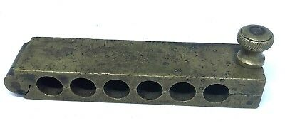 Antique Brass 6 Suppository Pill Mold Medical Equipment