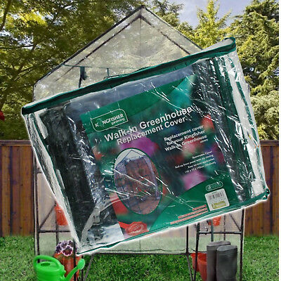 WALKIN GREENHOUSE REPLACEMENT SPARE COVER 143CMX73CMX195CM WALK IN GREEN HOUSE