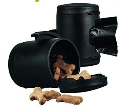Dispenser Flexi Poop Roll Bags Multi Box Black Dog Leads Container Treats Holder
