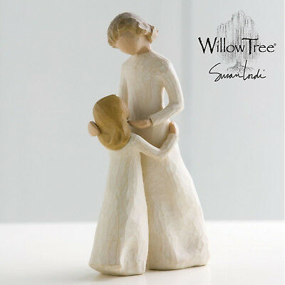 Willow Tree Mother and Daughter Figurine Carved Wood Hand-made Gift, Susan Lord