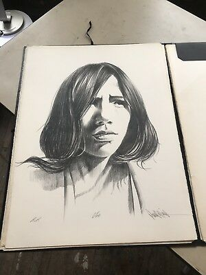 Paul Collins Stone Lithograph, Rare Hand Signed Artist Proof