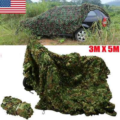 10x16.5FT Woodland Camouflage Netting Army Camo Hunting Shooting Hide Cover Net