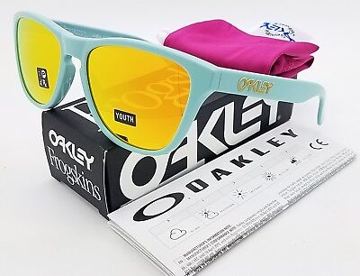 91cb08134c1 NEW Oakley Frogskins XS sunglasses Arctic Surf Fire 9006-0653 kids green  GENUINE