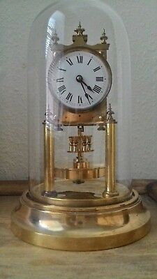 "Gustav Becker ""roman dial"" Anniversary pendulum torsion 400 day clock"