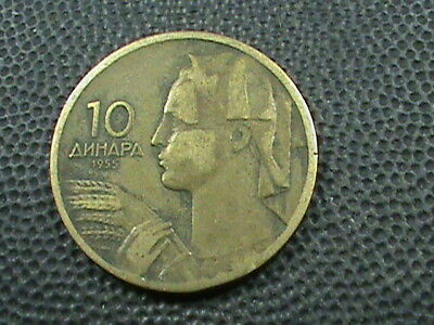 YUGOSLAVIA    10 Dinara    1955   ,   $ 2.99  maximum  shipping  in  USA