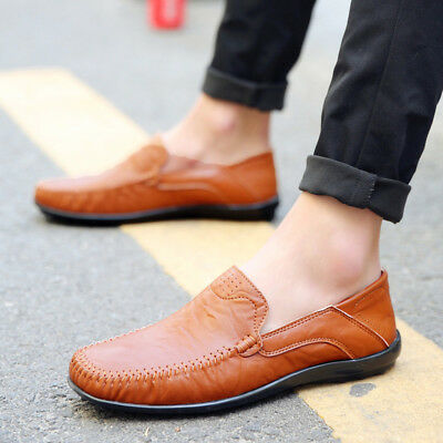 bed468d3c8851 Men's Driving Moccasins Summer Soft Casual Leather Loafers Boat Shoes Slip  On