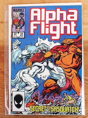 Alpha Flight #23 (Jun 1985, Marvel) Secret of Sasquatch!