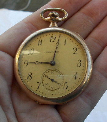 Watches, Parts & Accessories Gold Filled Watch 25 Year 17 Jewel C W C American Waltham Hunter Antique