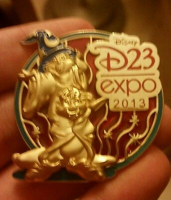 DLR - D23 Expo 2013 - Stained Glass Sorcerer Chip 'n' Dale (Artist Proof) AP Pin