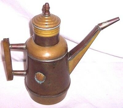 Antique Chinese ? Japanese ? Early American ? Hand Made Brass Tea Pot