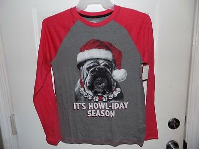 It's Howl-iday Season Dog Size X-Large Boy T Shirt Long Sleeve Arizona Christmas