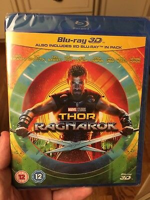 Thor: Ragnarok 3D + 2D Blu-Ray SHIPS FROM US SELLER!!! NEW