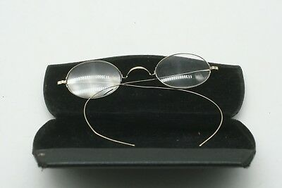 antique eye glasses 14 k gold with case