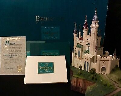 "WDCC ""Sleeping Beauty's Castle"" Enchanted Places (Original Box, COA & Deed) RARE"