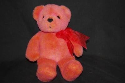 "Avon Teddy Bear Talking Century Celebration 2002 Heart Bow Plush 12"" Toy Lovey"