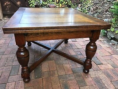 ANTIQUE OAK EXTENSION DINING TABLE Northern French