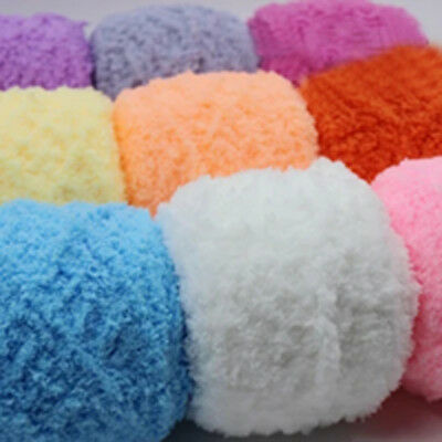 100g Chunky yarn Coral cashmere Velvet baby Hand Crochet knitting wool Yarn lot